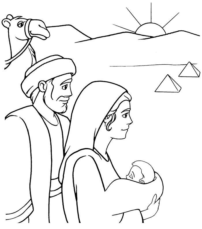 Jose Maria Y Jesus Huyen A Egipto Escuela Biblica