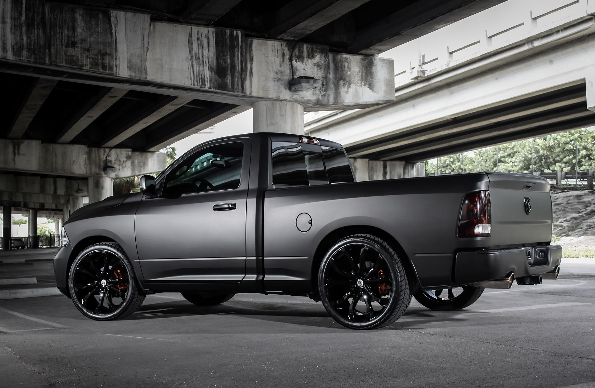 Dodge Ram Matte Black I really want this car definitely will stand