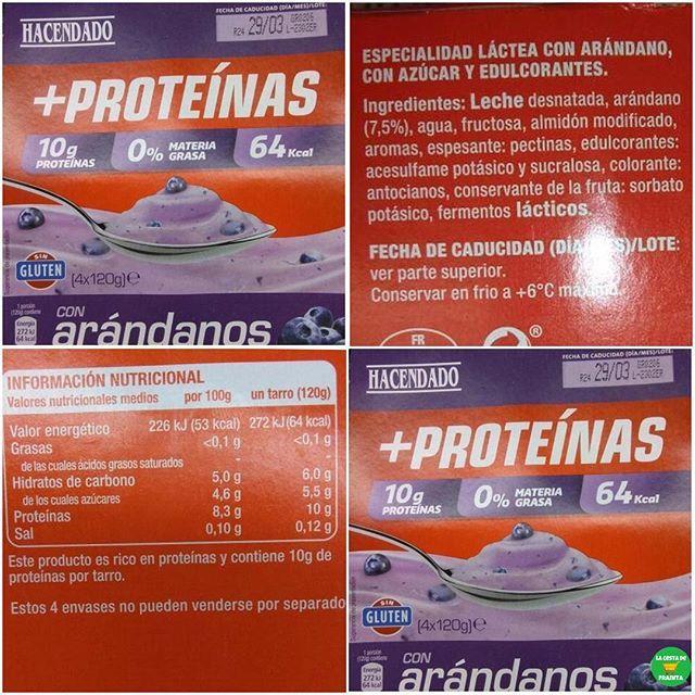 Yogur Con Arandanos Alto En Proteinas Hacendado