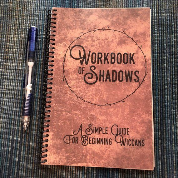 Workbook of Shadows, Wiccan Book for Beginners, A Beginner