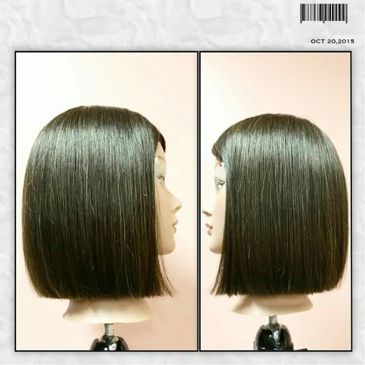 Square One Length By Macklan Clendenin One Length Haircuts Pinterest