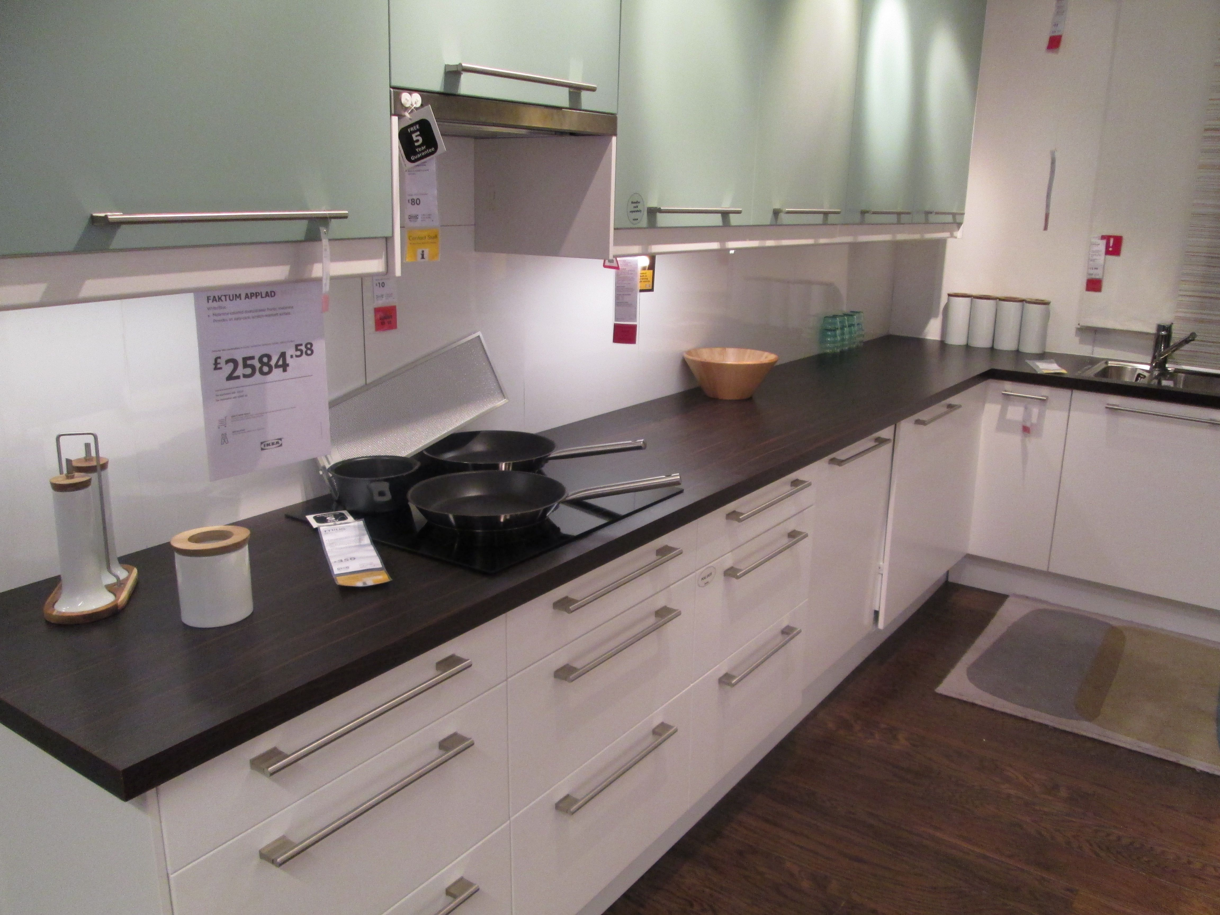 Ikea Faktum Applad Kitchen With White And Light