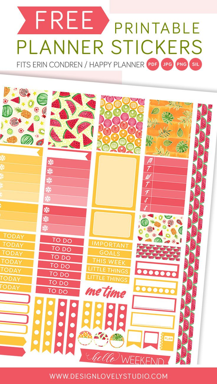 planner freebie! free printable planner stickers for erin condren