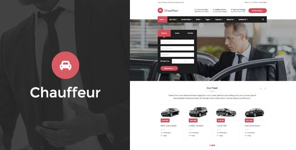 Download Chauffeur – Limousine, Transport And Car Hire WordPress ...