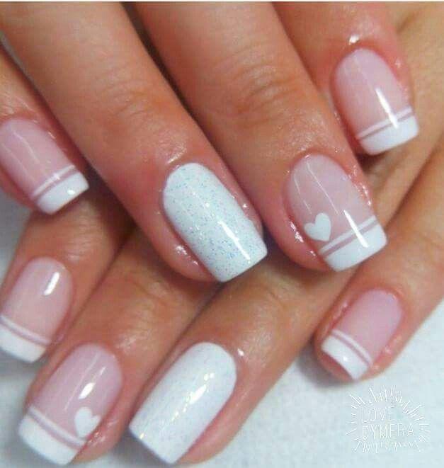Un lindo frances... | uñas | Pinterest | Franceses, Diseños de uñas ...