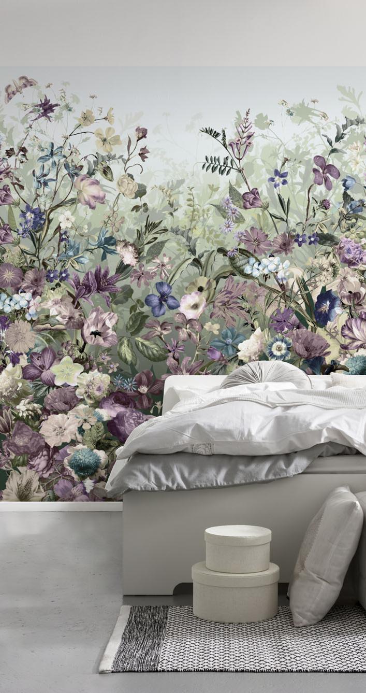 Floral botanical wallpaper Floral wallpaper, Botanical