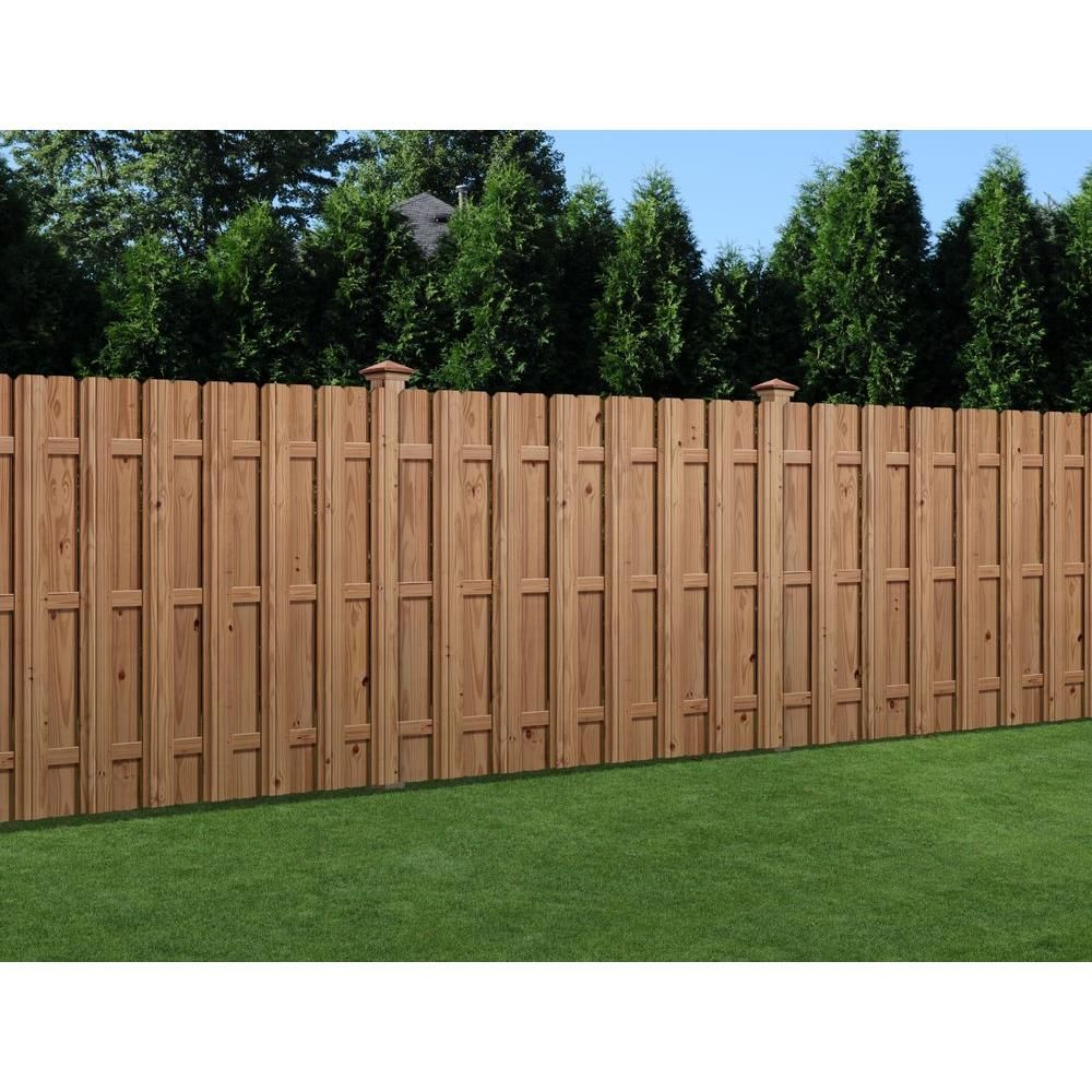 Outdoor Essentials 6 Ft X 6 Ft Pressure Treated Cedar Tone Wood Moulded Multi Style Fence Panel 204977 Wood Fence Wood Fence Design Fence Design