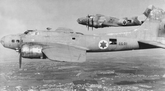 """british-eevee: """"B-17 bombers in service with the Israeli Air Force ..."""