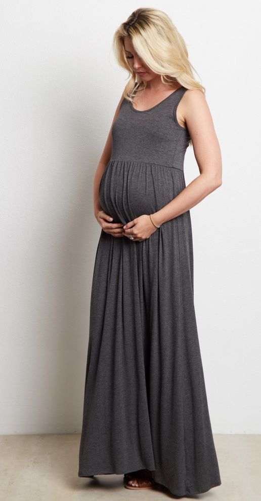 0e5fcef9911 This not so basic sleeveless maternity maxi dress is the ultimate staple  piece for your closet this year. A sleeveless top for the warmer weather