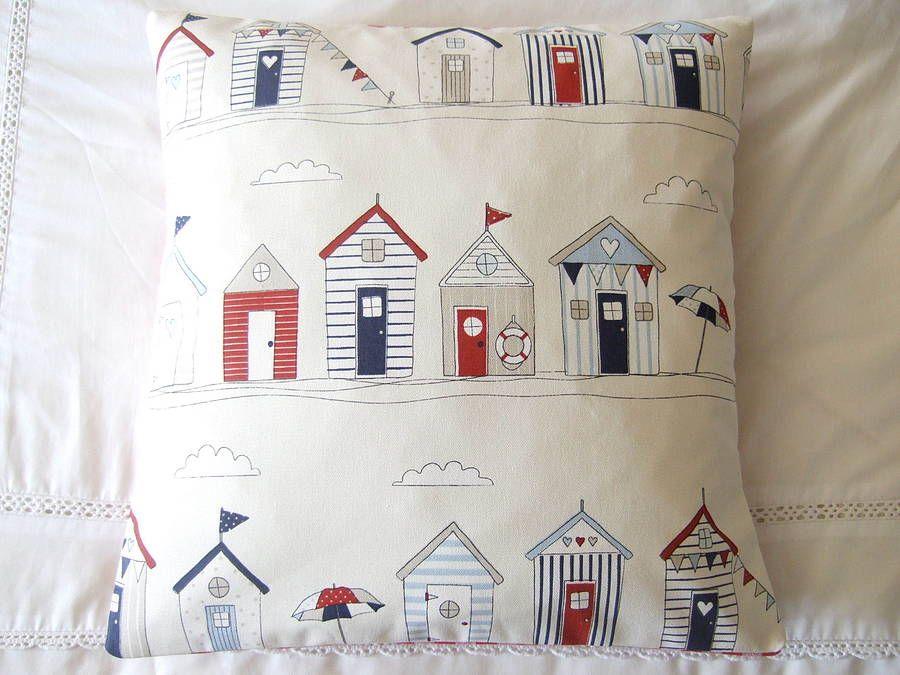 seaside house pillow