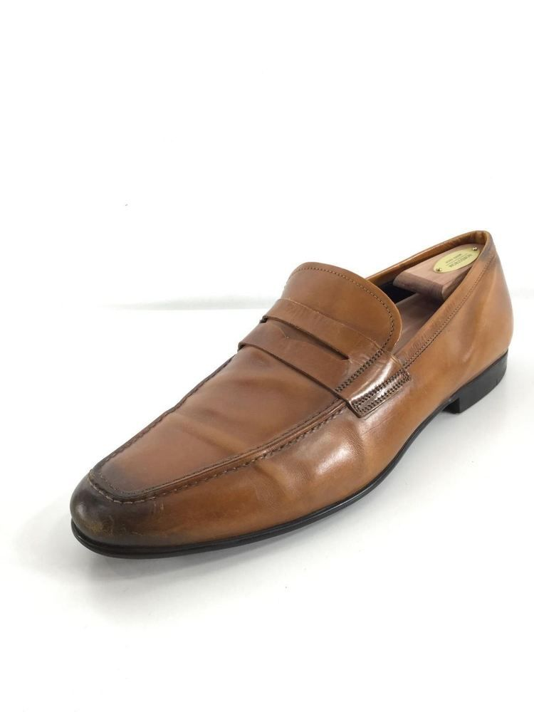 88c4af05a36 W19 TO BOOT NEW YORK DEANE TAN LEATHER PENNY LOAFER MEN SIZE 11.5  fashion