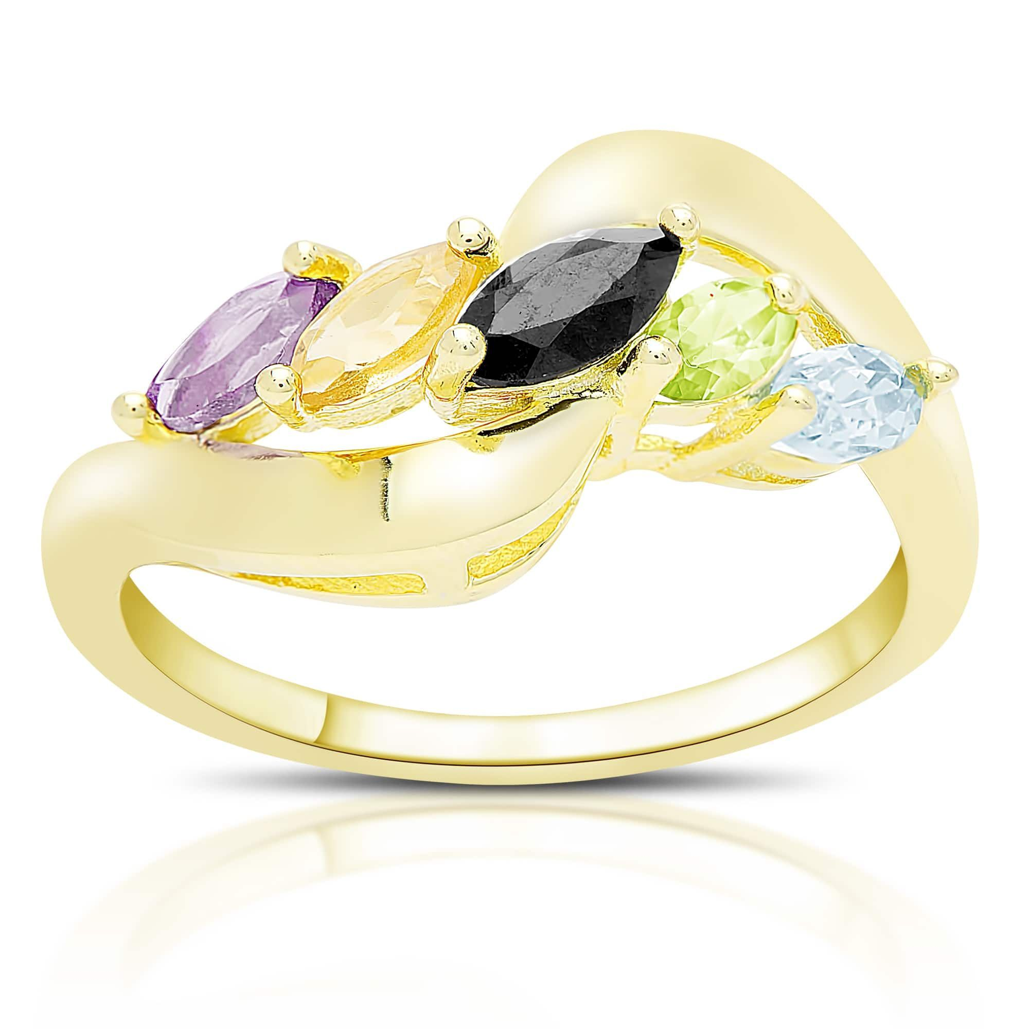 gold carat in collection green asymmetric goldsmiths gemstone mccaul garnet and diamond ring marquise