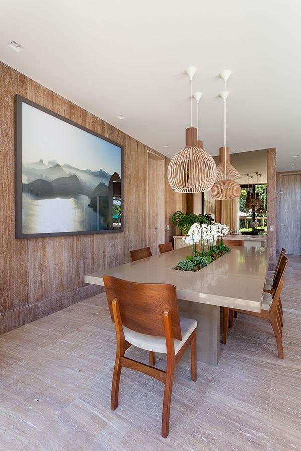 Casa De Campo Contemporânea Com Revestimentos Naturais   Constance Zahn.  Apartment DesignMid CenturyTileDining RoomsInterior ... Part 66