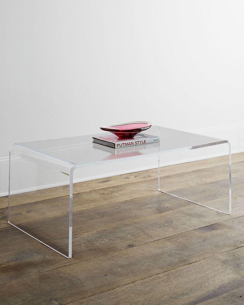 Melrose Modern Acrylic Coffee Table Coffee Table Acrylic Coffee Table Lucite Coffee Tables [ 1200 x 1200 Pixel ]