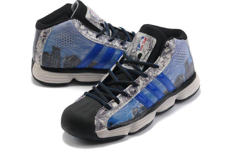 Cheap Adidas NBA Pro Model 2010 black blue white shoes · NbaModellenBasketball  SkoAdidasBlå