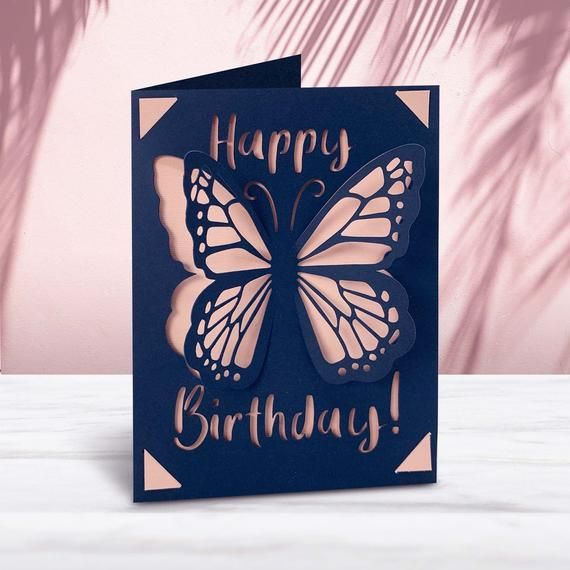 Cricut Joy Butterfly Pop Up Card Template Svg File Instant Download In 2021 Pop Up Card Templates Cricut Birthday Cards Joy Cards