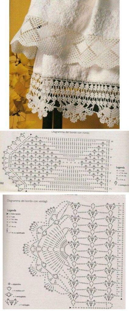 красивая кружевная кайма связанная крючком Crochet Pinterest