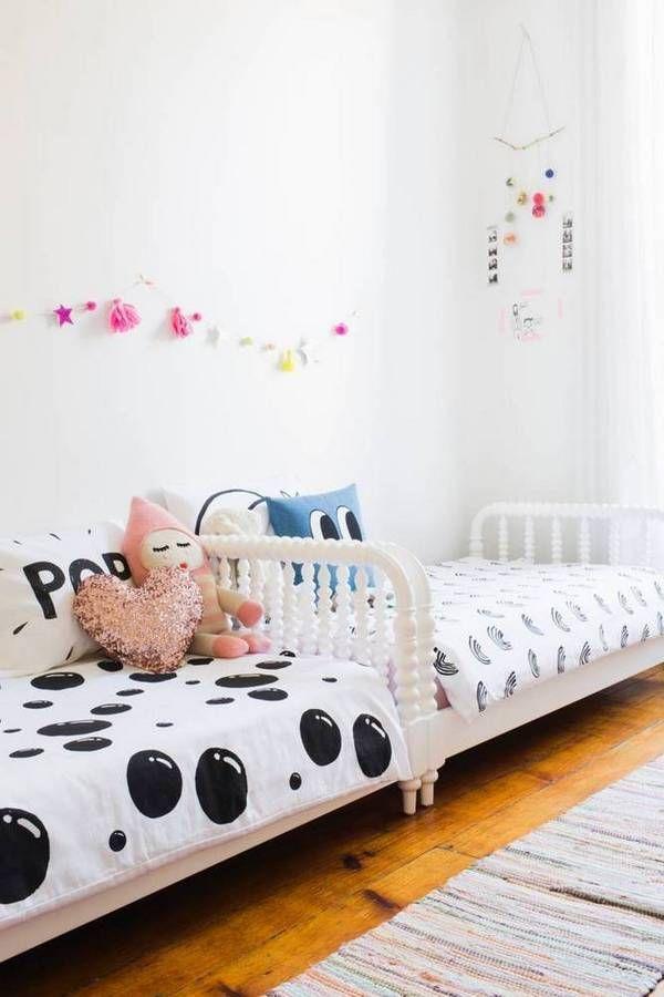 90 Quadratfuß kleines geteiltes Schlafzimmer für Kinder