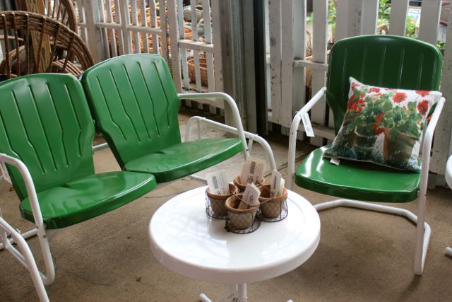 It S Vintage Yard Furniture Don T You Just Love 031514 The Barn Nursery Chattanooga Tn Remember These Comfortable Gliders Of Days Past Can Get