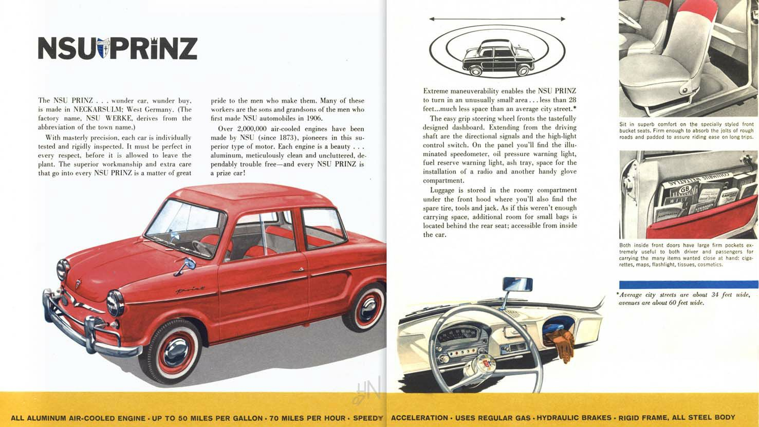 Flames & 20 Horsepower? 1958 NSU Prinz | Car pics and Cars