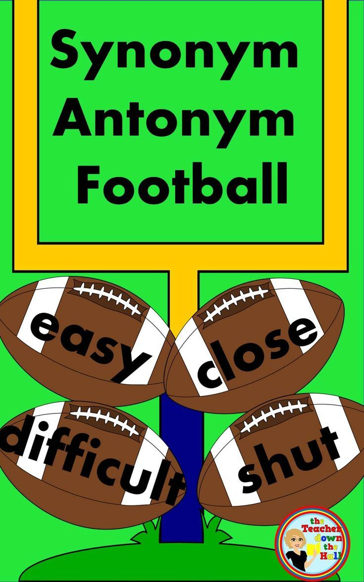 Students Will Love Reviewing Their Synonyms And Antonyms While Playing Football With Clmates