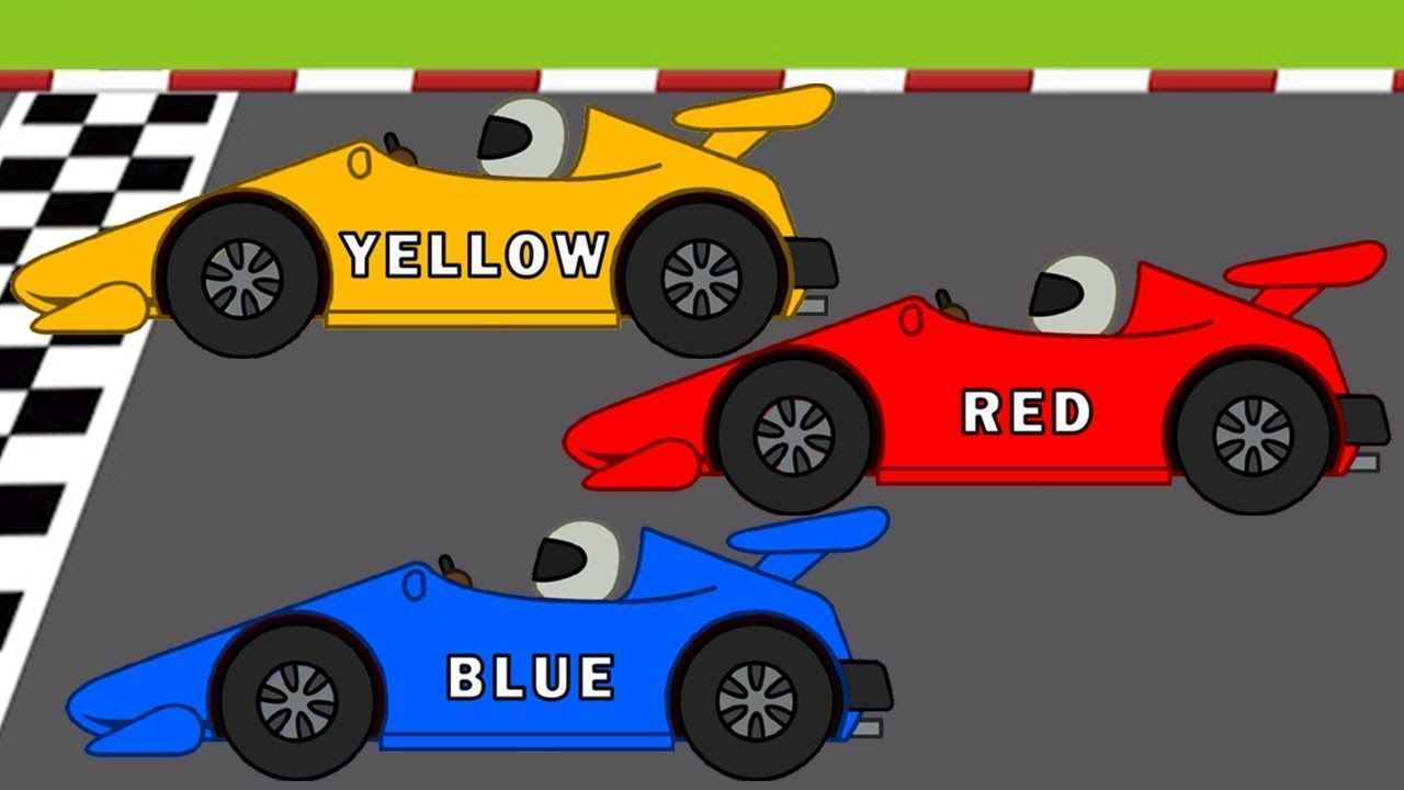 Learn The Colors With Racing Cars For Kids Cartoon Videos Learn Colour Car Cartoon Race Car Coloring Pages Race Cars