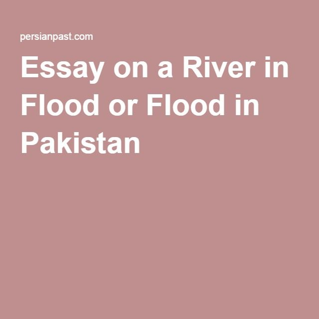 Essay flood in pakistan