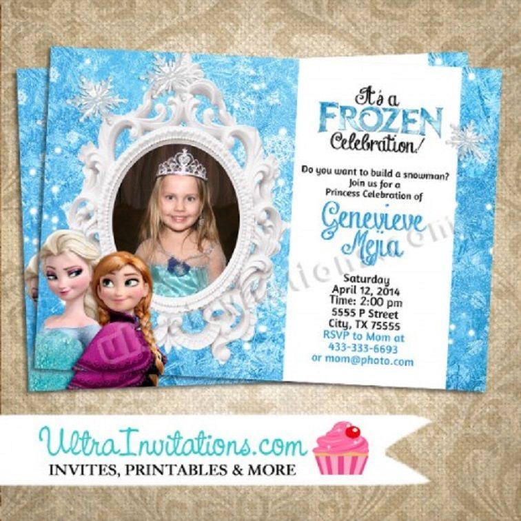 Personalized Frozen Birthday Invitations Party Invitation