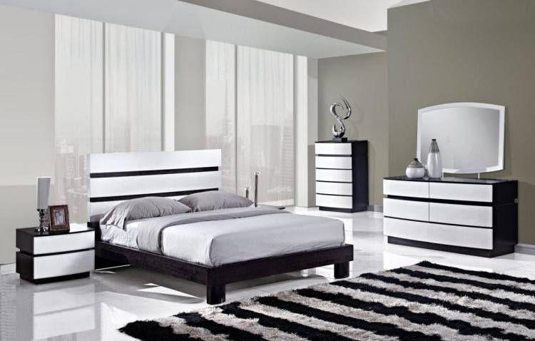 Chambreacoucher En 2020 Mobilier Noir Et Blanc Chambre A
