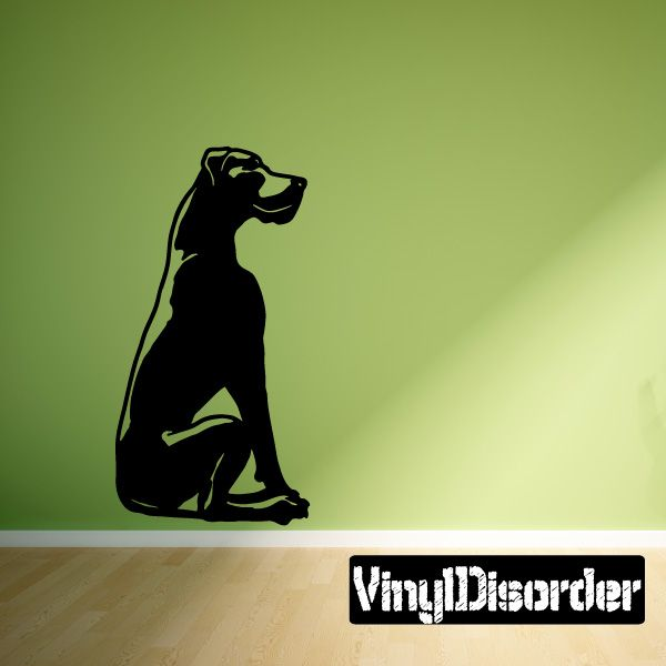 Detailed Seated Great Dane Decal Dogs Decals Vinyl Wall