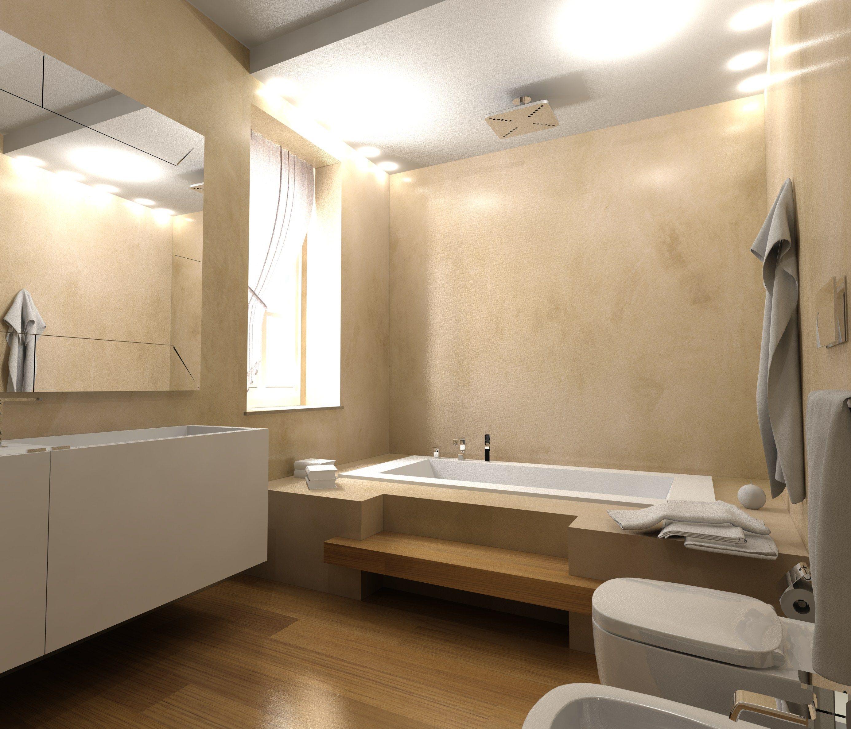 Progetto di bagno con pavimento e rivestimento in RESINA wwwstanzedautoreit  RESINA