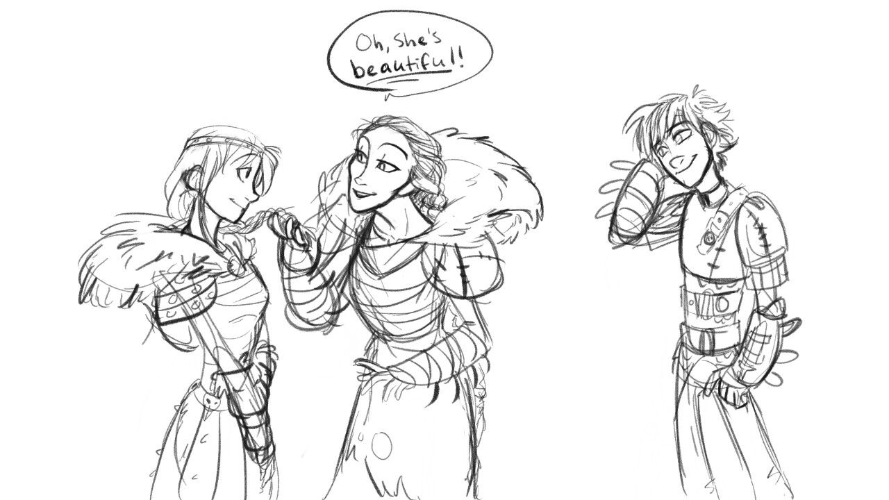 Part 1- Valka meets Astrid Haha, this comic is too funny ...