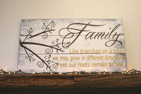 Family Like Branches On A Tree Pallet Sign by RusticlyInspired