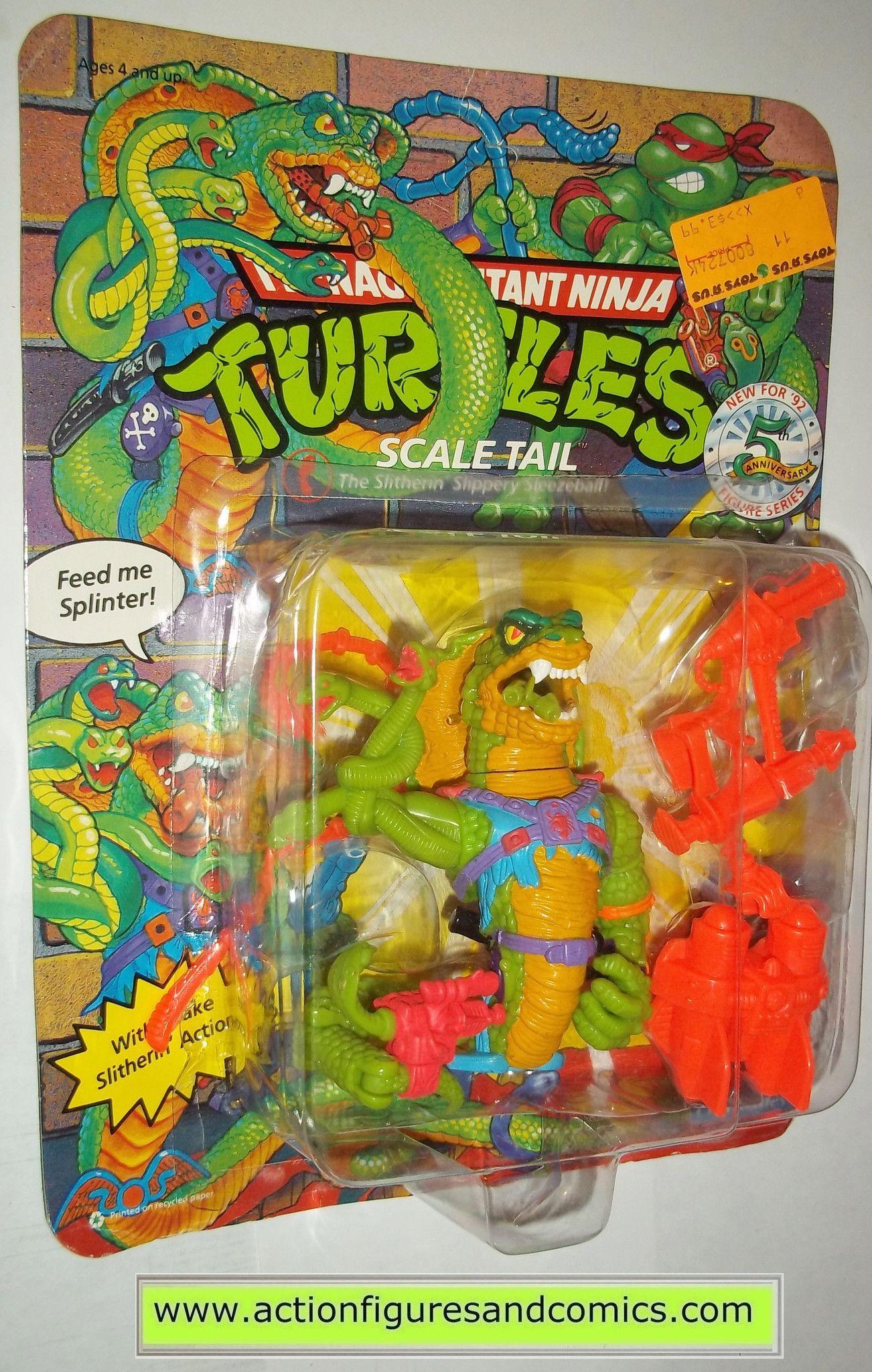 teenage mutant ninja turtles SCALE TAIL cobra snake 1992 vintage ...