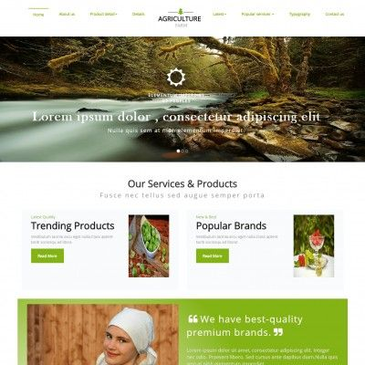 Agriculture Farm Website Template | TemplateOnWeb Download free and ...
