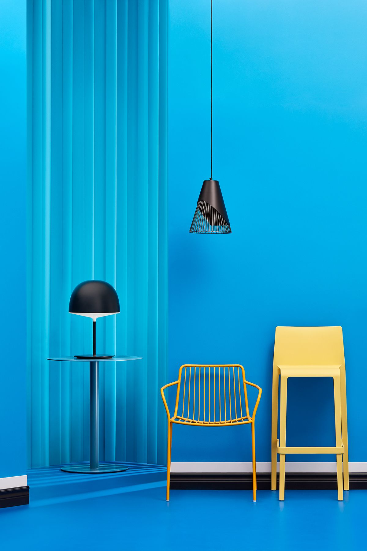 Beautiful Minimal Blue Interior Design Mindsparklemag