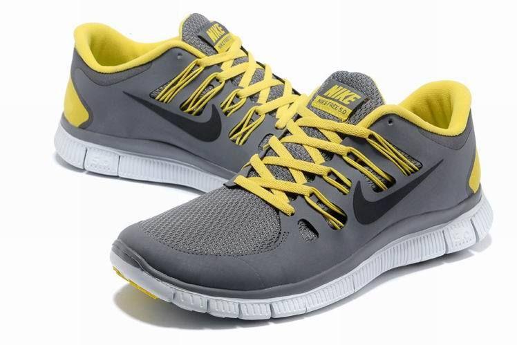7188b41e977 2013 New Arrival Nike Free 5.0 V2 Mens Running Shoes Grey Black Yellow