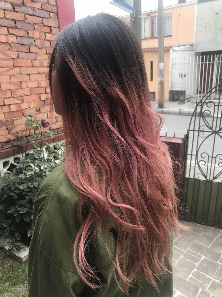 Balayage Brown And Pink Hair Color Dark Ombre Hair Dark Pink Hair Brown Blonde Hair