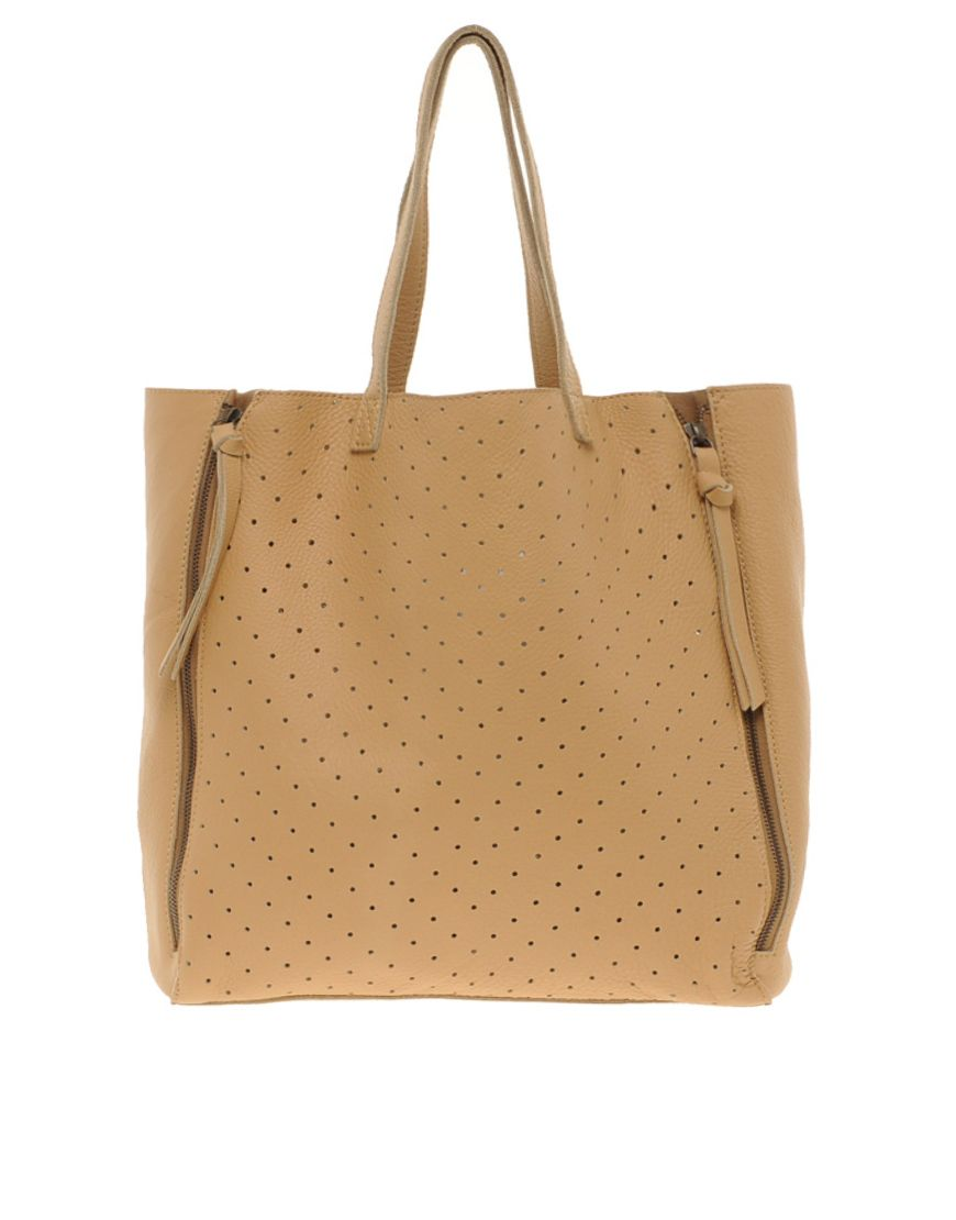 ASOS Leather Punchout tote