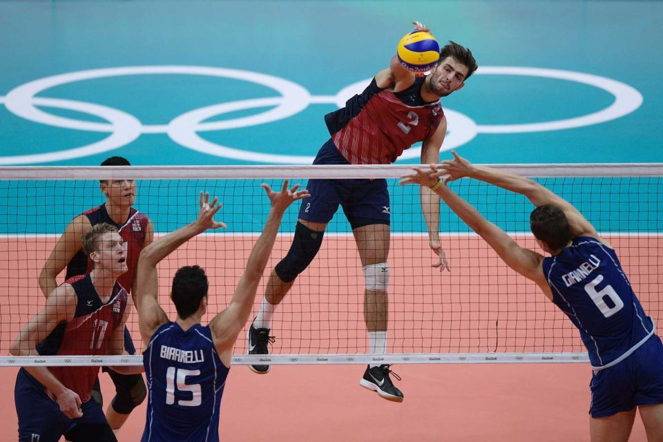 Rio Olympics Usa Vs Italy Men S Volleyball Mens Volleyball Volleyball Rio Olympics