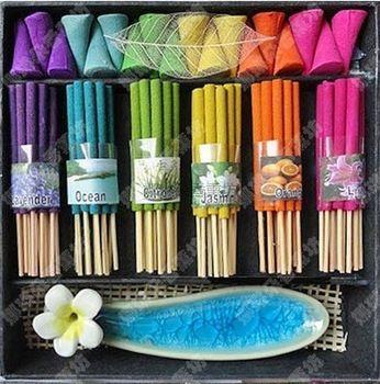 Thaïlande encens coffret cadeau aromatiser ligne encens bâtons pot
