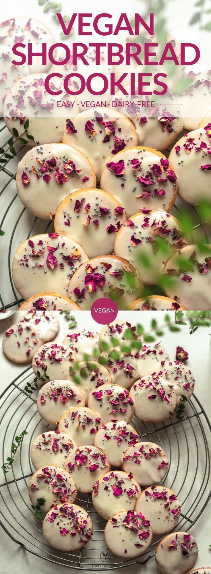TWO SPOONS | Vegan Shortbread Cookies