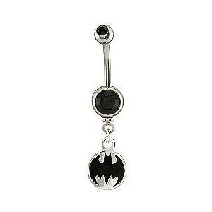 Batman Belly Button Ring Belly Belly Rings Rings Belly Button