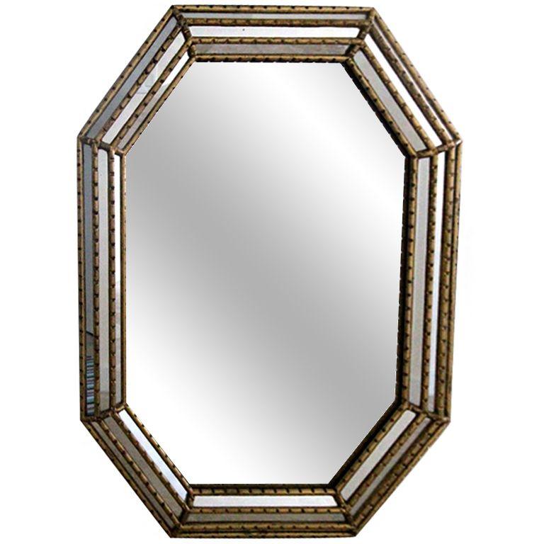 Large Vintage La Barge Mirror with Gilt Frame   furniture ...