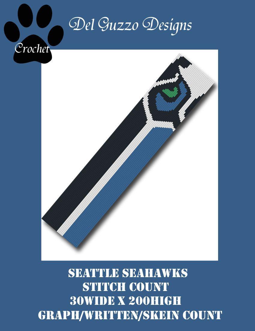 Seattle Seahawks Scarf Crochet Graph by DelGuzzoDesignStudio on Etsy ...
