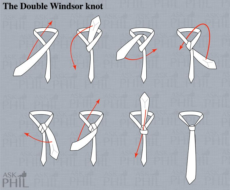 Image result for how to tie a double windsor knot step by step ...