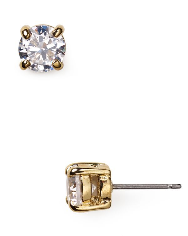 Lauren Ralph Lauren Cubic Zirconia Stud Earrings 10mm Silver Stud Earrings Jewelry Fashion Jewelry