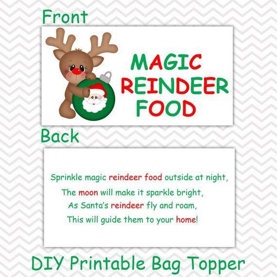 picture regarding Reindeer Food Printable identify Xmas Magic Reindeer Meals - Tailored Do it yourself Xmas