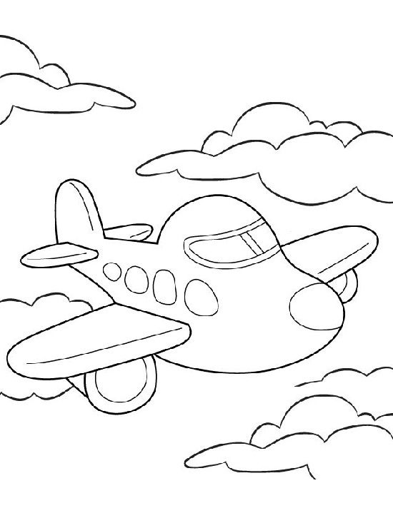 airplane coloring pages for toddlers - photo#16