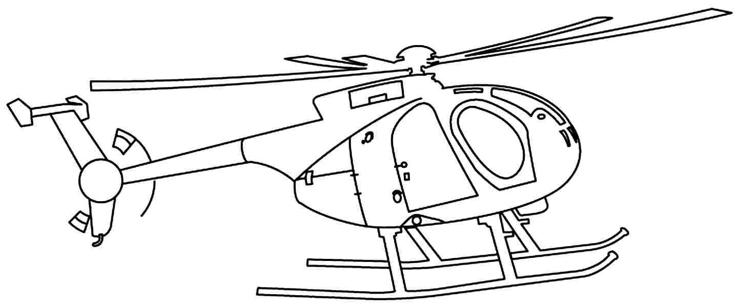 Helicopters With A Large Rotor Blades